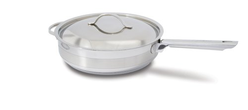 Cuisinox Gourmet 5-Quart Covered Saute Pan, Silver POTC28FC