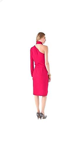 Diane Von Furstenberg Rose Célébrité De La Piste Rouge Robe De Crêpe Bowman Pour Les Femmes, 2