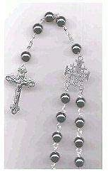 """Hematite Beads Rosary (43 cm Or 17"""")"""