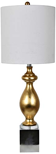 Talbots Collection - Crestview Collection Talbot Gold Leaf Metal Table Lamp
