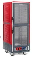 - Metro C539-HFS-4 C5 3 Series Full Height Solid Door Heated Holding Cabinet - Red