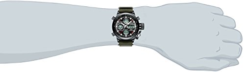 Mens-Black-Sports-Watches-Men-Digital-Analog-Waterproof-Big-Face-Military-Army-Green-Nylon-Wrist-Watch