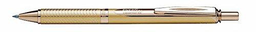Pentel EnerGel Alloy RT Retractable Liquid Roller Gel Pen - Metal Barrel 0.7mm - Gold Body (Black Ink) Photo #2