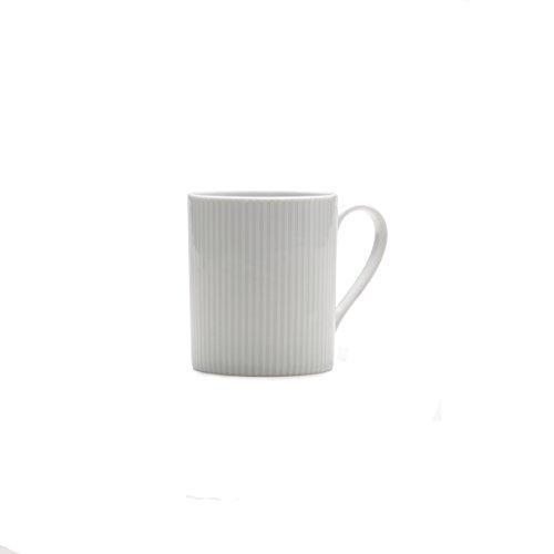 Mikasa Cheers White Stripe Mug, 12-Ounce