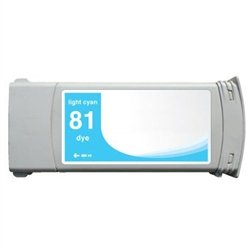 Ink Now Compatible Cartridge Replacement for HP C4934A, 81, Works with : DesignJet 5000, 5500 SeriesDye (Light Cyan)