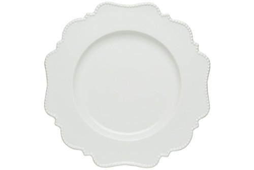 Red Vanilla Pinpoint Dinner Plate, Set Of 4, 11