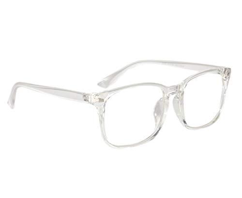 Peter Jones Anti-Reflective Wayfarer Unisex Sunglasses - (NA101|56|White Color Lens)