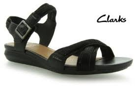 391cfa141779 clarks active air roof dance black leather sandals uk size 4.5 5
