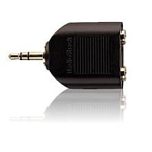 RadioShack Gold-Plated Y-Adapter 1/8 Inch Stereo Jack-to-1/8 Inch Stereo Plug