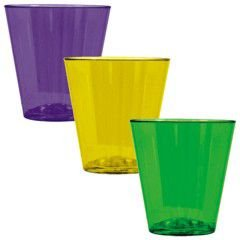 Mardi Gras Plastic 2oz Shot Glasses (Mardi Gras Party Shot Glass)