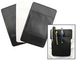1950s Men's Costumes Black and White Vinyl Pocket Protectors PKG (3) $10.00 AT vintagedancer.com