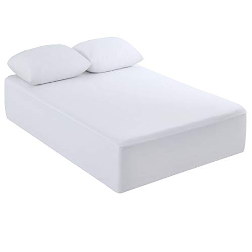 Towelling Mattress Protector (Dreamaker Cotton Terry Toweling Waterproof Fitted Mattress Protector Sheet (1, Twin 39