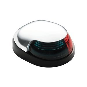 The Amazing Quality Attwood Quasar™ 2-Mile Deck Mount, Bi-Color Red/Green Combo Sidelight - 12V - White (Attwood Quasar Combo)