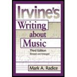 Read Online Irvine's Writing About Music (3rd, 99) by Irvine, Demar [Paperback (2003)] PDF