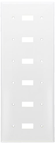 Morris 81061 Lexan Wall Plate Toggle Switch, 6 Gang, - Wall Toggle Plate 6
