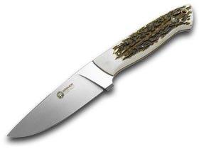 Boker Hunter Stag Handle - BOKER ARBOLITO Genuine Deer Stag El Trampero Ciervo Fixed Blade Knife Knives