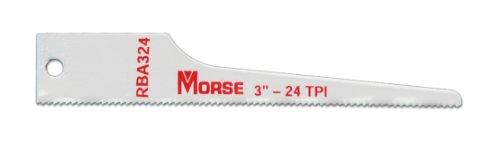 MK Morse RBA324T05 24TPI Air Saw Reciprocating Blade,3-Inch, - Air 3 Saw