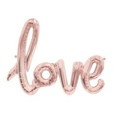 love Balloon Banner Rose Gold (pink) Celebration Balloon 30 Inches Long