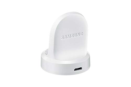 Genuine Samsung Wireless Charger Bulk for Gear S2 & Classic SM-R720 Charging Dock with Micro USB Cable (White)