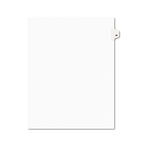 Avery Legal Dividers, Premium Individual Tab Titles, Letter Size, Side Tabs, 28, Pack of 25 - Letters Title