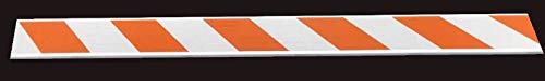 8''x1''x8' Fluted Barricade Panel with Double-Sided High Intensity Reflective Orange/White Barricade Sheeting