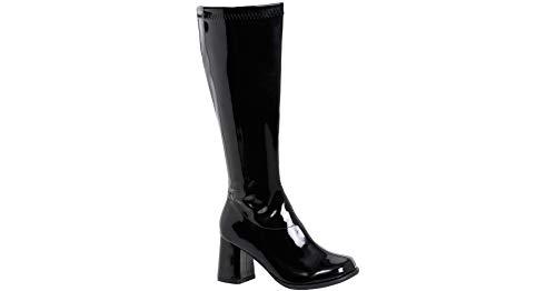 Ellie Shoes Women's GOGO-W Knee High Boot Black Patent 7 M -