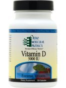 Ortho Molecular - Vitamin D 5000IU - 120 Capsules (Vitamin D3 Ortho Molecular)
