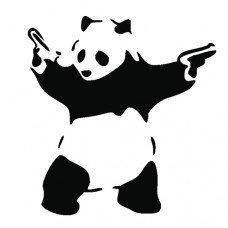 Banksy Bad Panda Graffiti Funny Symbol Funny Bumper Sticker Car Van Bike Sticker Decal Free P&P Arubas