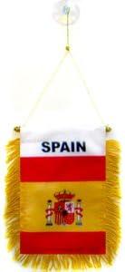 AZ FLAG BANDERIN de ESPAÑA 15x10cm con Ventosa - BANDERINA ESPAÑOLA 10 x 15 cm para Coche: Amazon.es: Hogar