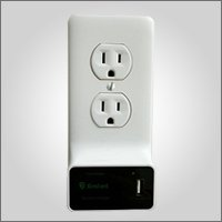 Enstant –White Smart Wall Socket Plate with Dual USB Charger -
