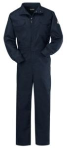 Nomex Iiia Snap - Bulwark Flame Resistant 4.5 oz Nomex IIIA Regular Premium Coverall with Navy, Small