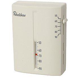 Robertshaw 9204V 24-Volt AC Heating Only Deluxe Mechanical Thermostat, SPST - Mechanical Mercury Free 24vac Thermostats
