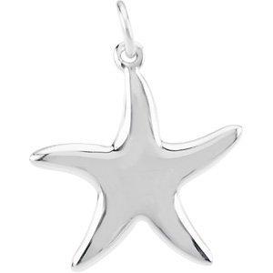 Breloque en Argent Sterling 925Motif étoile de mer