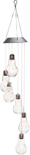 Solar Powered Glass Bulb Hanging Light - Modern Pendant Light for Deck, Patio by GreenLighting