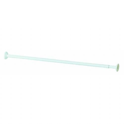 Zenith/bathware 653WW White Decorative Screw Mount Shower Rod