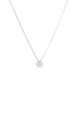 Elements - ID Collier Or Blanc cm. 42 réglable 2,00 cm - Composante diamètre 10,0 mm - Tit. 375/1000