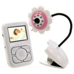 2.4GHz 2.5-Inch TFT LCD Display Palm Size Wireless Baby Moniter Kit with LED Light-Pink