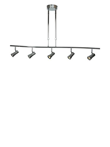 Lighting Spotlight Pendant - Sleek - LED Spotlight Pendant - 5-Light - Brushed Steel Finish