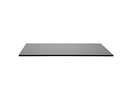 Compact 27.5 Inch Laminate Square Table Top in Anthracite [Set of 2]