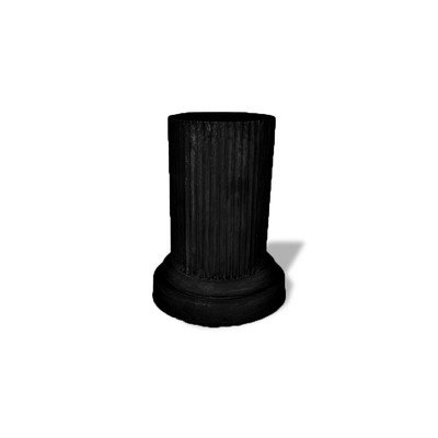 Amedeo Design ResinStone 1900-7B Doric Pedestal, 20 by 20 by 36-Inch, Black by Amedeo Design