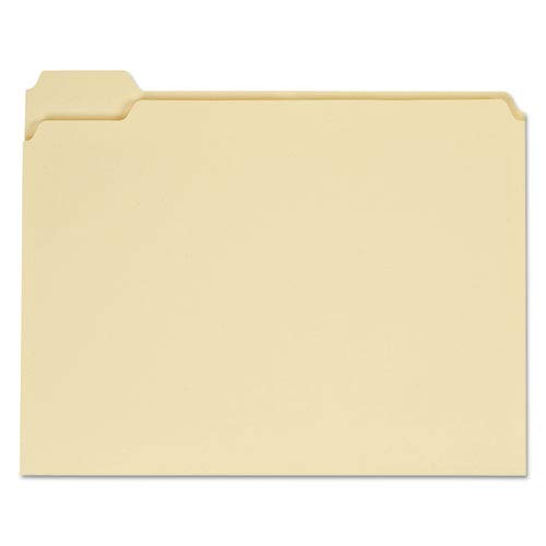 File Folders, 1/5 Cut Assorted, One-Ply Top Tab, Letter, Manila, 100/Box, Sold as 100 Each ()
