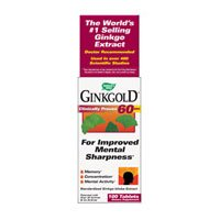 Natures Way Ginkgold Tablet, 60 Mg - 50 per pack -- 3 packs per (Ginkgo 50 Tab)