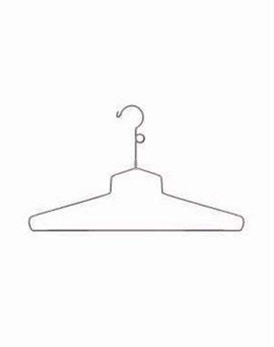 Count of 25 New Retails Metal Chrome Shirt Hanger with Loop Hook 18 Inches