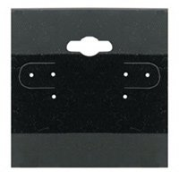 Beadaholique Earring Display Hang Cards Black Flocked 2 X 2 Inch (100) 4336834653