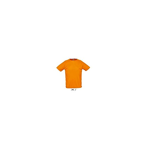 Mens Raglan Sleeves T Sporty - Farbe: Neon Orange - Größe: S