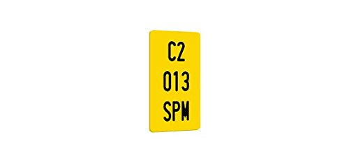 SPM Matricula de ciclomotor policarbonato 100% HOMOLOGADA (Ciclomotor)