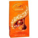 Lindt Lindor Irresistibly Smooth Orange Dark Chocolate Truffles 5.1 Oz Pack of 2