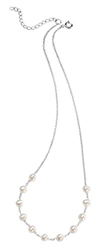 Jewelry Element Necklace Pearl (Elements Silver Womens Pearl Necklace - Silver/White)