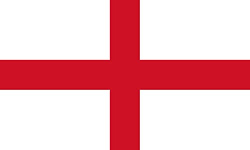 SoCal Flags® Brand England Flag 3x5 Foot Polyester English St George Cross Flag - High Quality Weather Resistant Durable - 100d Material Not See Thru Like Other Brands (George English Flag)