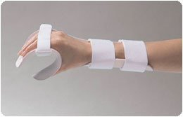 Rolyan Splinting Material Sheet, Functional-Position Hand Splint, Right, Small, Deluxe Model, Includes Self-Adhesives Strap Kit, Single Sheet by Cedarburg